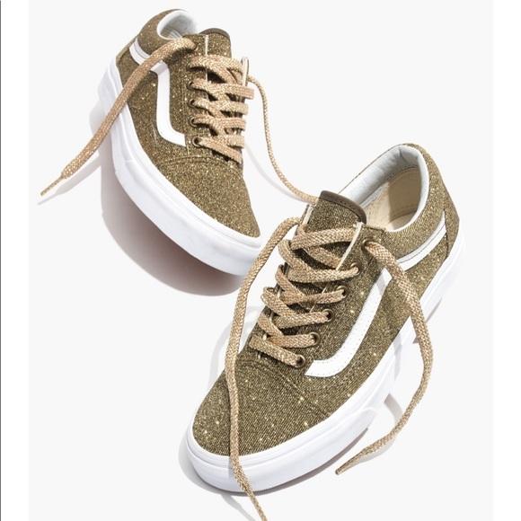 0b90e24f3654 Vans Shoes | Madewell Old Skool Glitter Sneakers | Poshmark